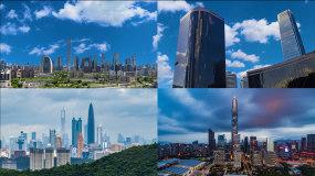 震撼中国北京上海城市素材视频素材