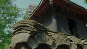 4K【A】古镇寺庙禅意画,广告画质视频素材