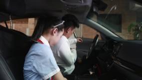 文明出行记得开车系好安全带视频素材