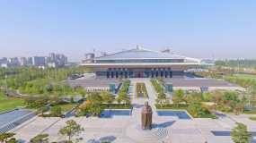 孔子博物馆航拍视频素材