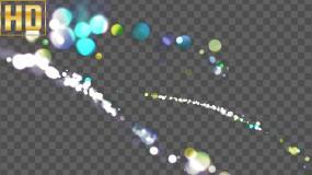 绚丽粒子光效旋转-alpha通道视频素材包