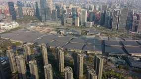 4k航拍南京国际博览中心视频素材