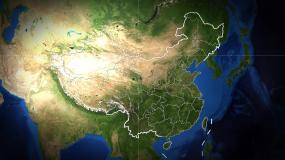 北京市(地球中国定点俯冲)视频素材