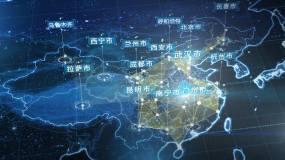 武汉市地图辐射世界-2(视频素材)视频素材
