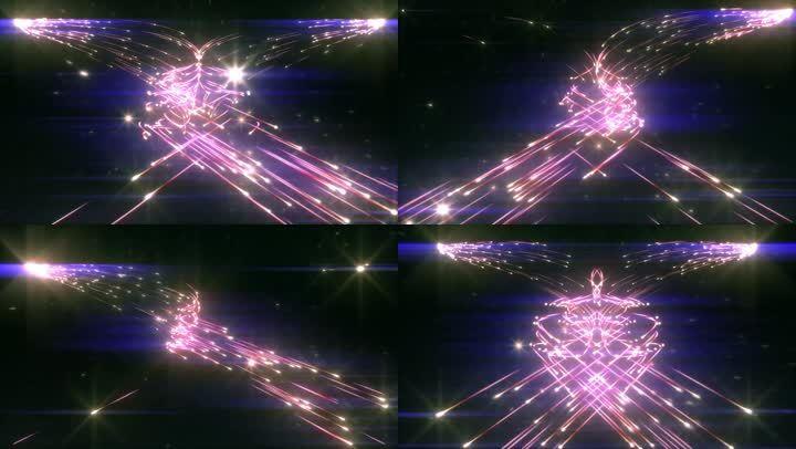 流星发射空间运动背景