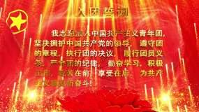 入团誓词黄金字LED无缝循环背景视频素材
