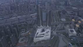 4K-HLG原素材-南京保利大剧院航拍视频素材
