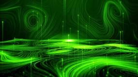 绿色唯美梦幻浪漫写意粒子光线背景视频素材