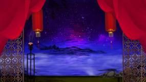 中国风江南红色舞台背景视频素材
