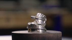 4k银饰收拾工艺制作视频素材