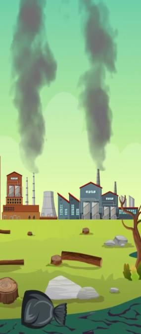 污染环境天幕视频素材