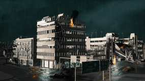 原创生化危机废墟场景视频素材