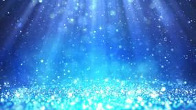 梦幻光线蓝色粒子光芒飘浮视频素材