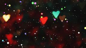 爱心粒子飘散视频素材