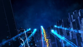 大气蓝色科技粒子光线宣传片头ae模板AE模板