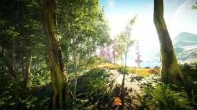 3D唯美仙境蝴蝶飞舞森林场景视频素材