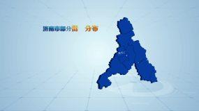 三维地域地图分布展示AE模板