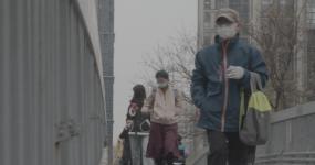 【原创】4K疫情下的城市生活戴口罩人群视频素材
