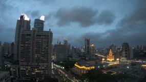 上海静安寺周边商业区延时视频视频素材