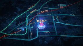房地产区位路网模板AE模板