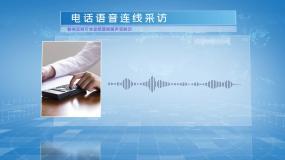 电话语音采访远程连线AE模板