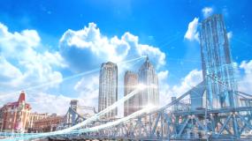 大气科技城市光线视频素材视频素材