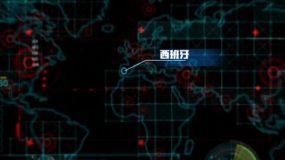 全球国外疫情地图模板AE模板