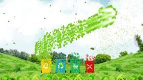 垃圾分类绿色环保02视频素材