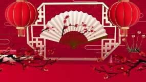 中国风戏曲相声小品折扇LED背景视频视频素材