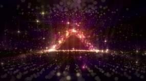 多彩浪漫粒子星空三角门视频素材
