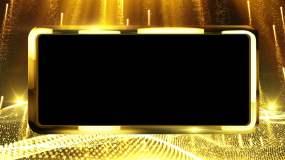 黄金透明视频装饰边框循环素材视频素材