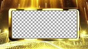 AE工程黄金边框的AE模板
