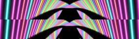 霓虹线条万花筒视频素材