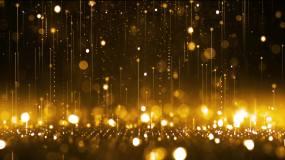 年会颁奖金色粒子下落舞台背景视频素材