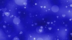 梦幻蓝色粒子背景视频素材