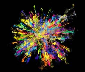 彩色烟雾粒子汇聚视频素材