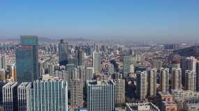 城市风光航拍4K视频视频素材