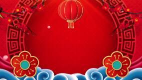 中国风戏曲相声三句半红色喜庆LED背景视视频素材