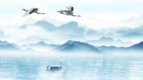山水水墨通用背景视频素材