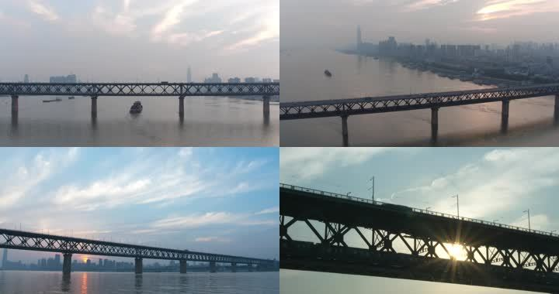 【4k】武汉日出武汉清晨武汉大桥武汉解封