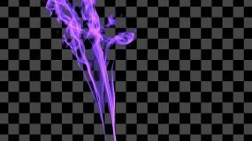 紫蓝烟雾视频素材包