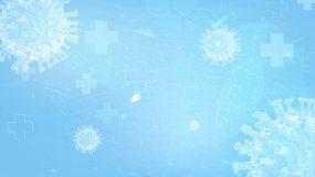 疫情新冠病毒蓝色背景循环LOOP视频素材
