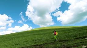 草原徒步视频素材
