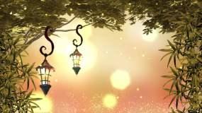 树叶童话灯背景循环视频素材