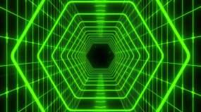賽博朋克隧道穿梭VJ背景視頻素材