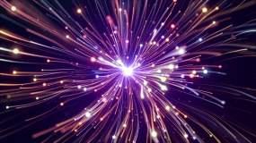 彩色绚丽抽象光线爆炸延伸循环视频视频素材