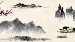 山水水墨通用背景1视频素材