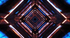 蒸汽科技藝術穿梭隧道環形素背視頻素材