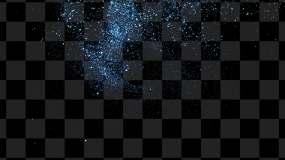藍色粒子飄落01視頻素材包