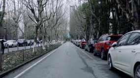 【4K】疫情中武漢封城空曠街景視頻素材